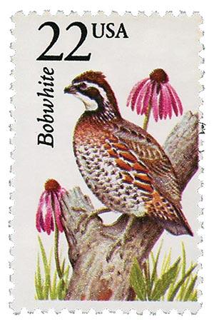 1987 22c North American Wildlife: Bobwhite
