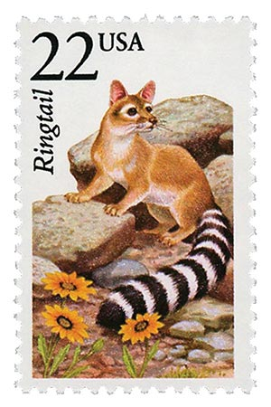 1987 22c North American Wildlife: Ringtail