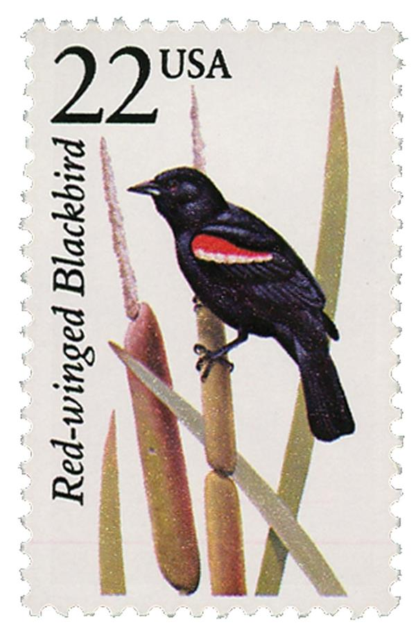 1987 22c North American Wildlife: Red-winged Blackbird