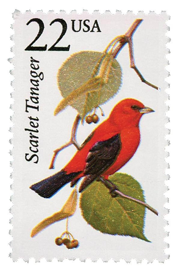 1987 22c North American Wildlife: Scarlet Tanager