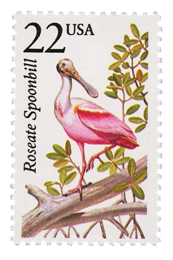 1987 22c North American Wildlife: Roseate Spoonbill