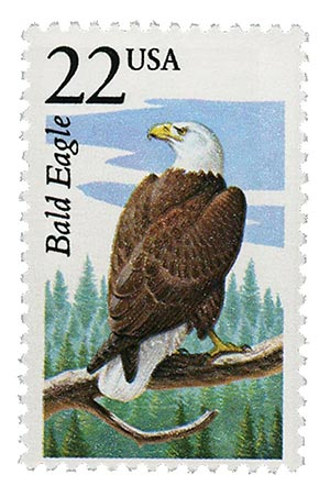 1987 22c North American Wildlife: Bald Eagle