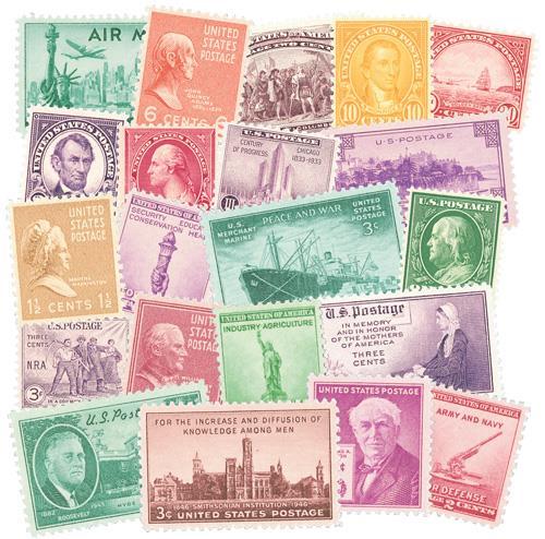 25 Classic U.S. Stamps
