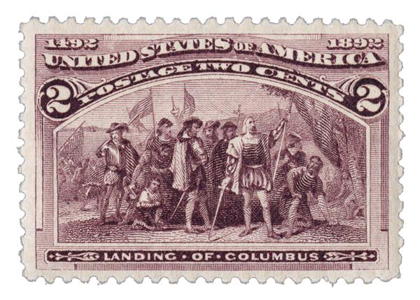 1893 2c Columbian Commemorative: Landing of Columbus