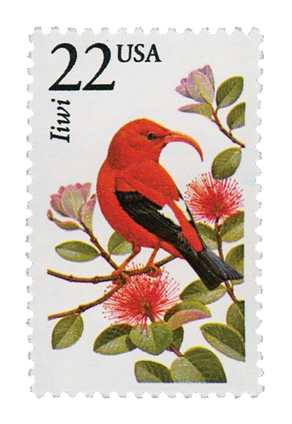 1987 22c North American Wildlife: Iiwi