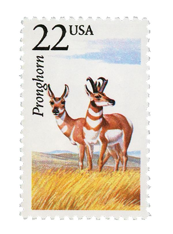 1987 22c North American Wildlife: Pronghorn