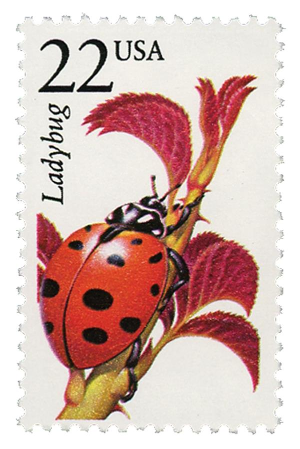 1987 22c North American Wildlife: Ladybug