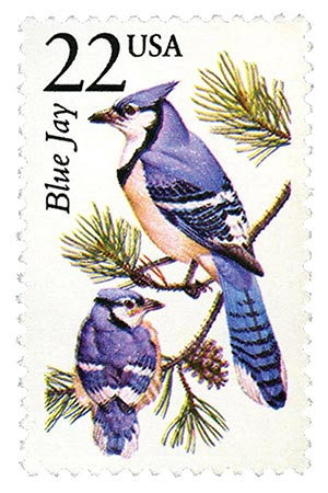 1987 22c North American Wildlife: Blue Jay