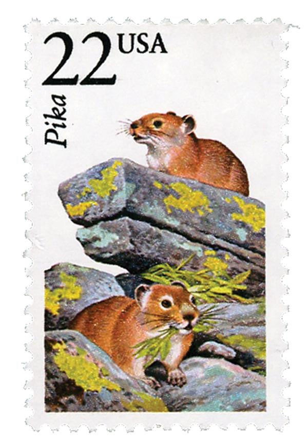 1987 22c North American Wildlife: Pika