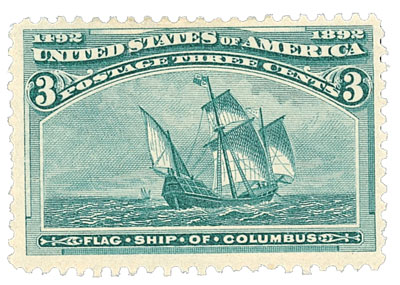 1893 3c Columbian Commemorative: Flagship of Columbus