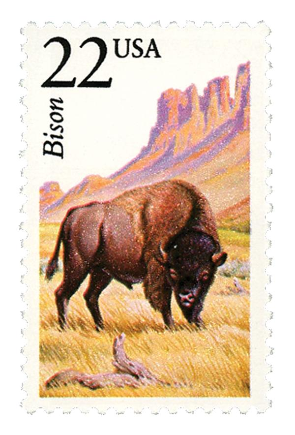 1987 22c North American Wildlife: Bison