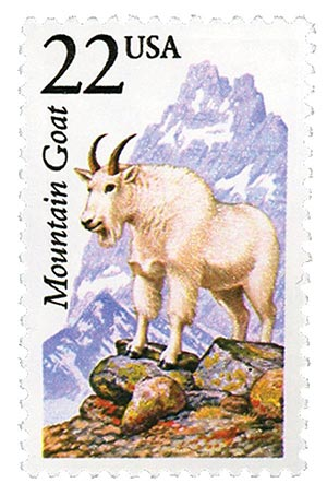 1987 22c North American Wildlife: Mountain Goat