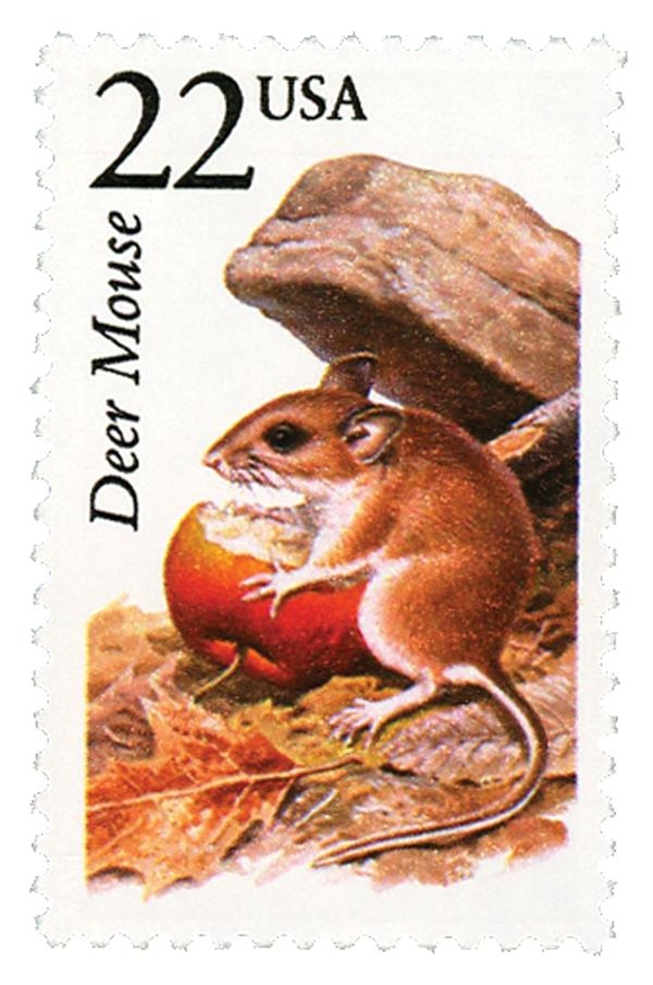 1987 22c North American Wildlife: Deer Mouse