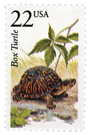 1987 22c North American Wildlife: Box Turtle