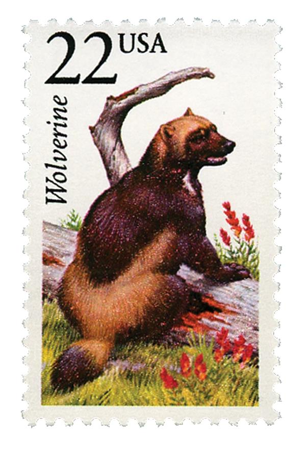 1987 22c North American Wildlife: Wolverine