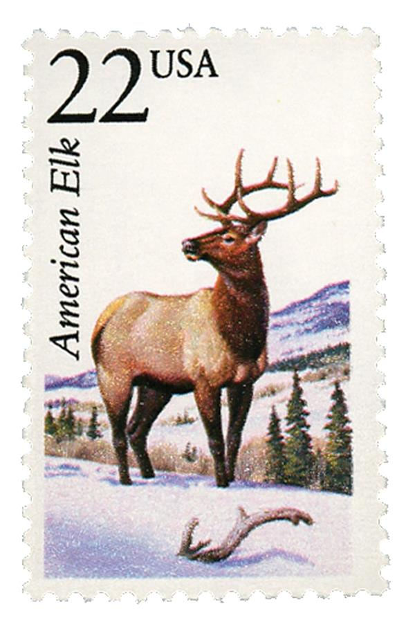 1987 22c North American Wildlife: American Elk