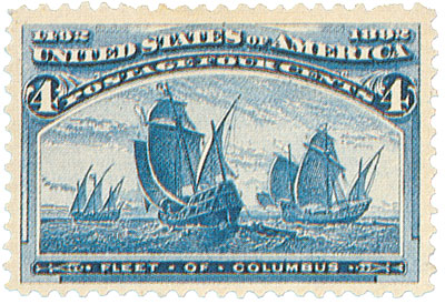 1893 4c Columbian Commemorative: Fleet of Columbus