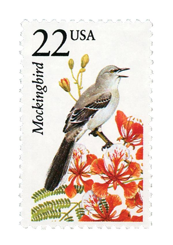 1987 22c North American Wildlife: Mockingbird