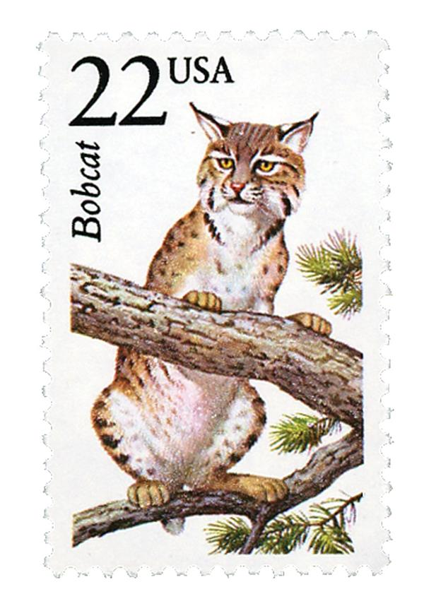 1987 22c North American Wildlife: Bobcat