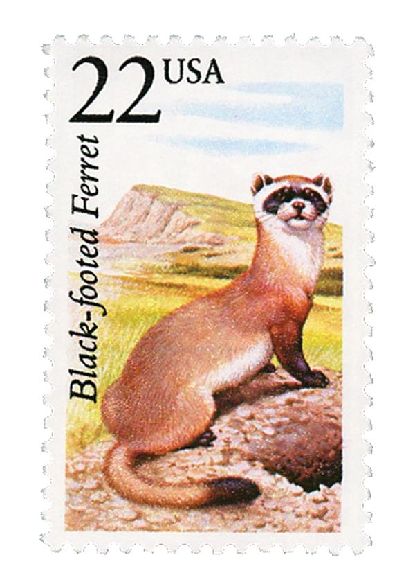 1987 22c North American Wildlife: Black-footed Ferret