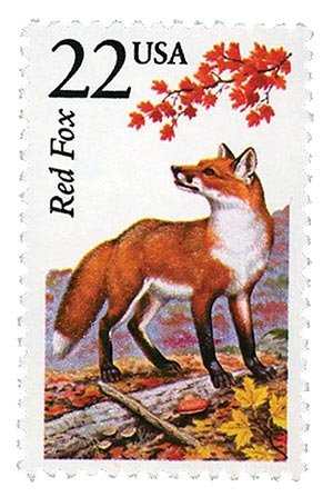 1987 22c North American Wildlife: Red Fox