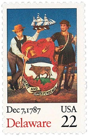 U.S. #2336 was issued for Delaware's 200th anniversary.