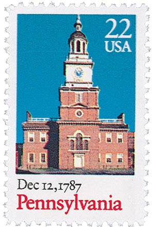 1987 22c Bicentenary Statehood: Pennsylvania