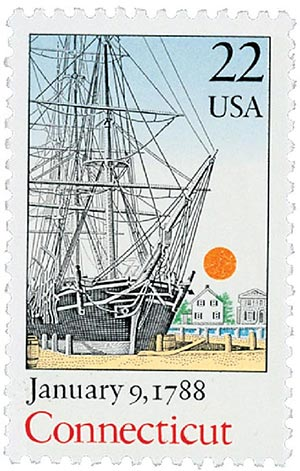 1987 22c Bicentenary Statehood: Connecticut