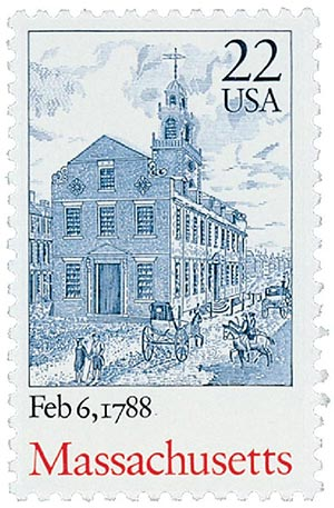 1987 22c Bicentenary Statehood: Massachusetts