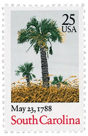 1987 25c Bicentenary Statehood: South Carolina