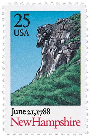1987 25c Bicentenary Statehood: New Hampshire