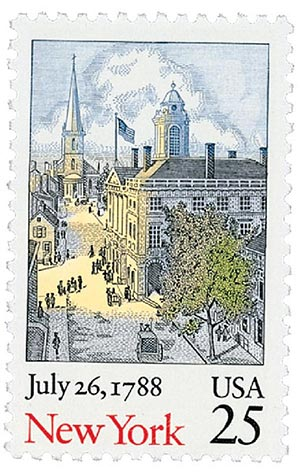 1987 25c Bicentenary Statehood: New York