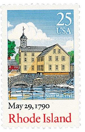 1987 25c Bicentenary Statehood: Rhode Island