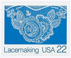 1987 22c Lacemaking: Floral (Design C)