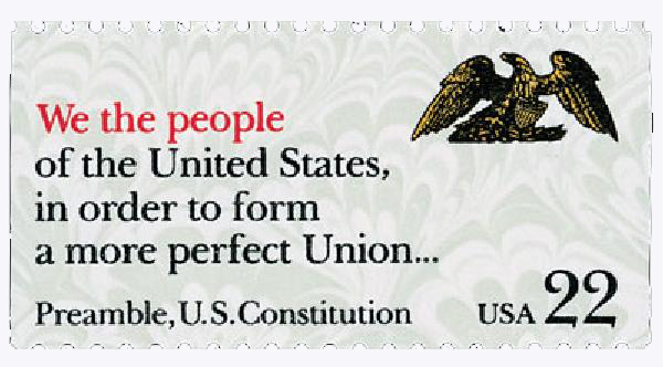 1987 22c Drafting the Constitution: We The People