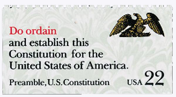 1987 22c Drafting the Constitution: Do Ordain