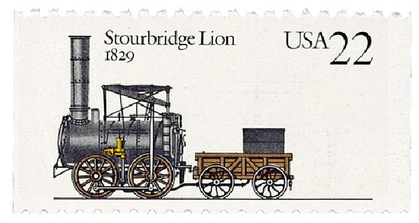 1987 22c Steam Locomotives: Stourbridge Lion