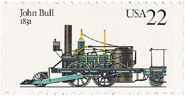 1987 22c Steam Locomotives: John Bull