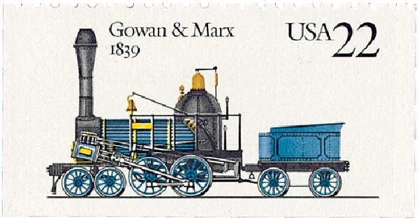 1987 22c Steam Locomotives: Gowan & Marx