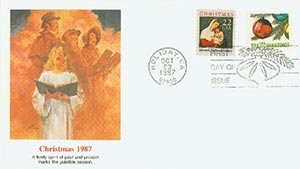 1987 22c Christmas Combination Cover
