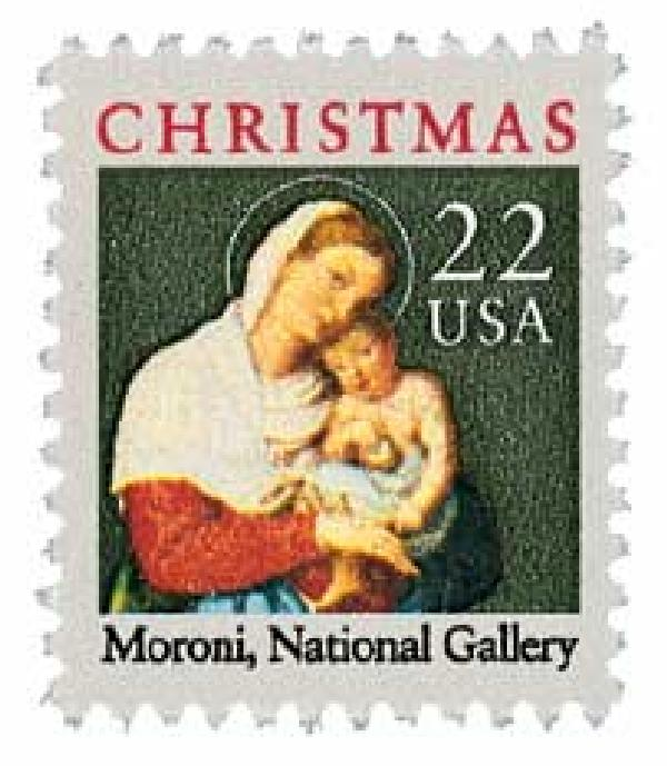 1987 22c Traditional Christmas: Madonna and Child