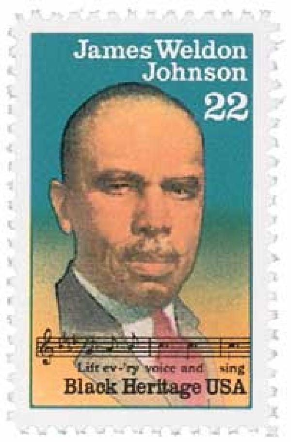 1988 22c Black Heritage: James Weldon Johnson