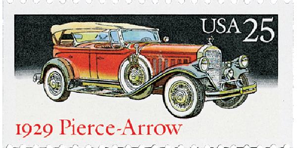 1988 25c Classic Cars: 1929 Pierce-Arrow