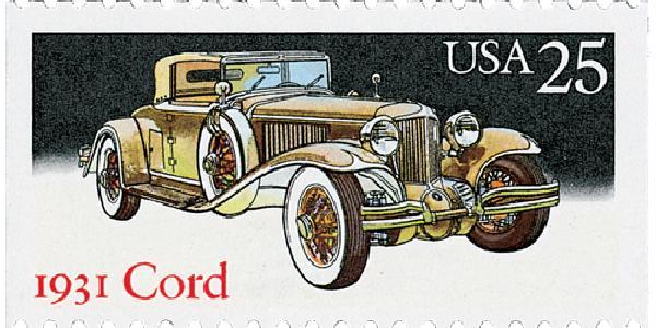 1988 25c Classic Cars: 1931 Cord
