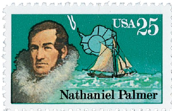 1988 25c Antarctic Explorers: Nathaniel Palmer