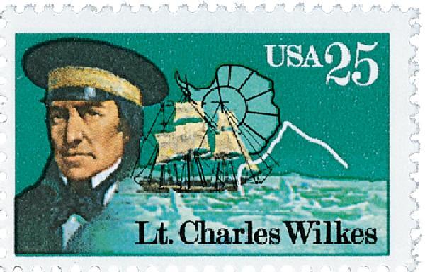 1988 25c Antarctic Explorers: Lt. Charles Wilkes