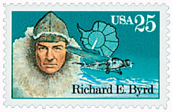 1988 25c Antarctic Explorers: Richard E. Byrd