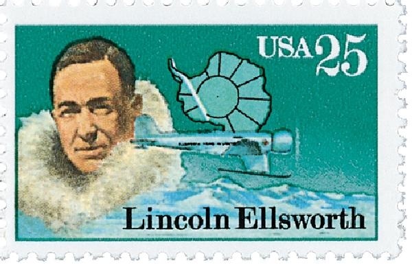 1988 25c Antarctic Explorers: Lincoln Ellsworth