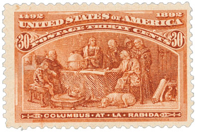 1893 30c Columbian Commemorative: Columbus at La Rabida