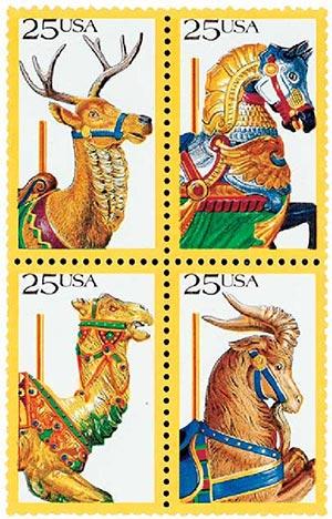 1988 25c Carousel Animals